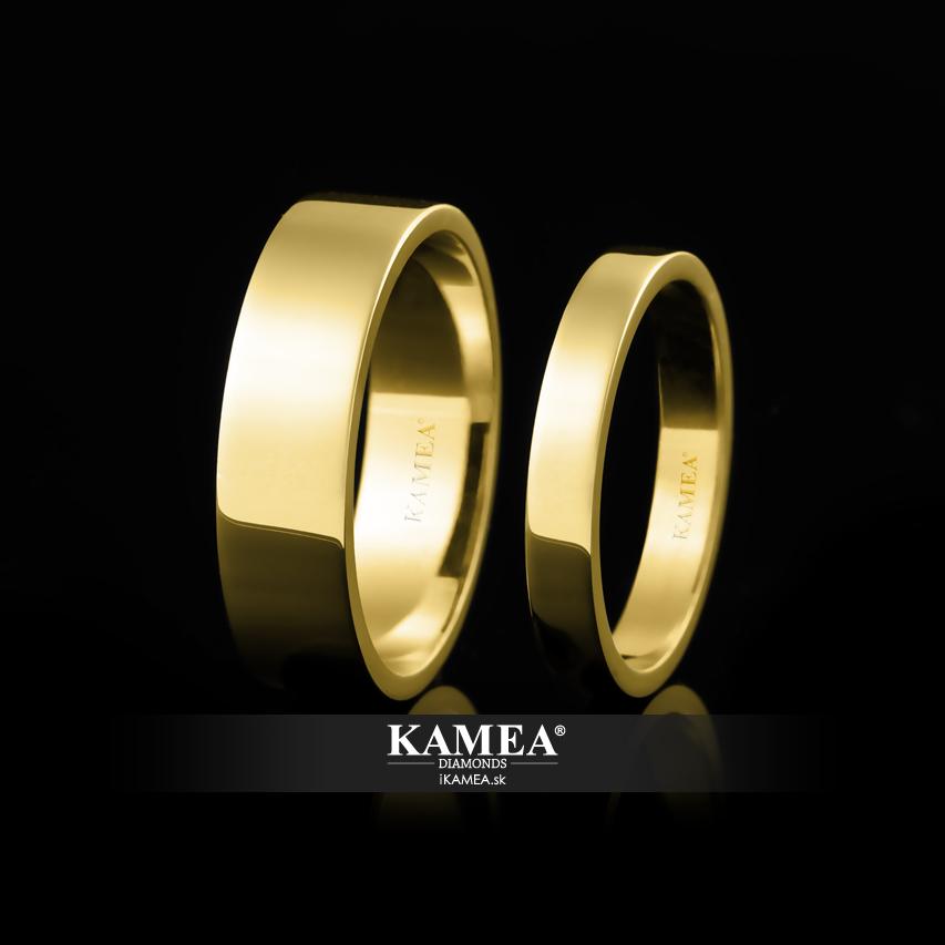6452 svadobné obrúčky zo žltého zlata