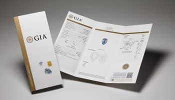 Ukážka GIA diamantového certifikátu, ktorý prikladáme k diamantovým šperkom