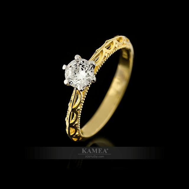 kamea diamonds, zasnubny prsten
