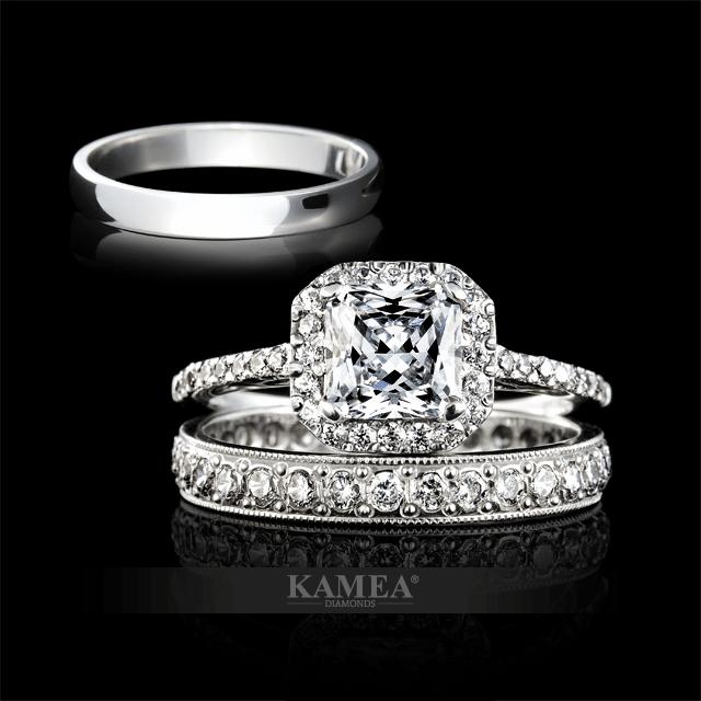 svadobná obrúčka so zásnubným prsteňom