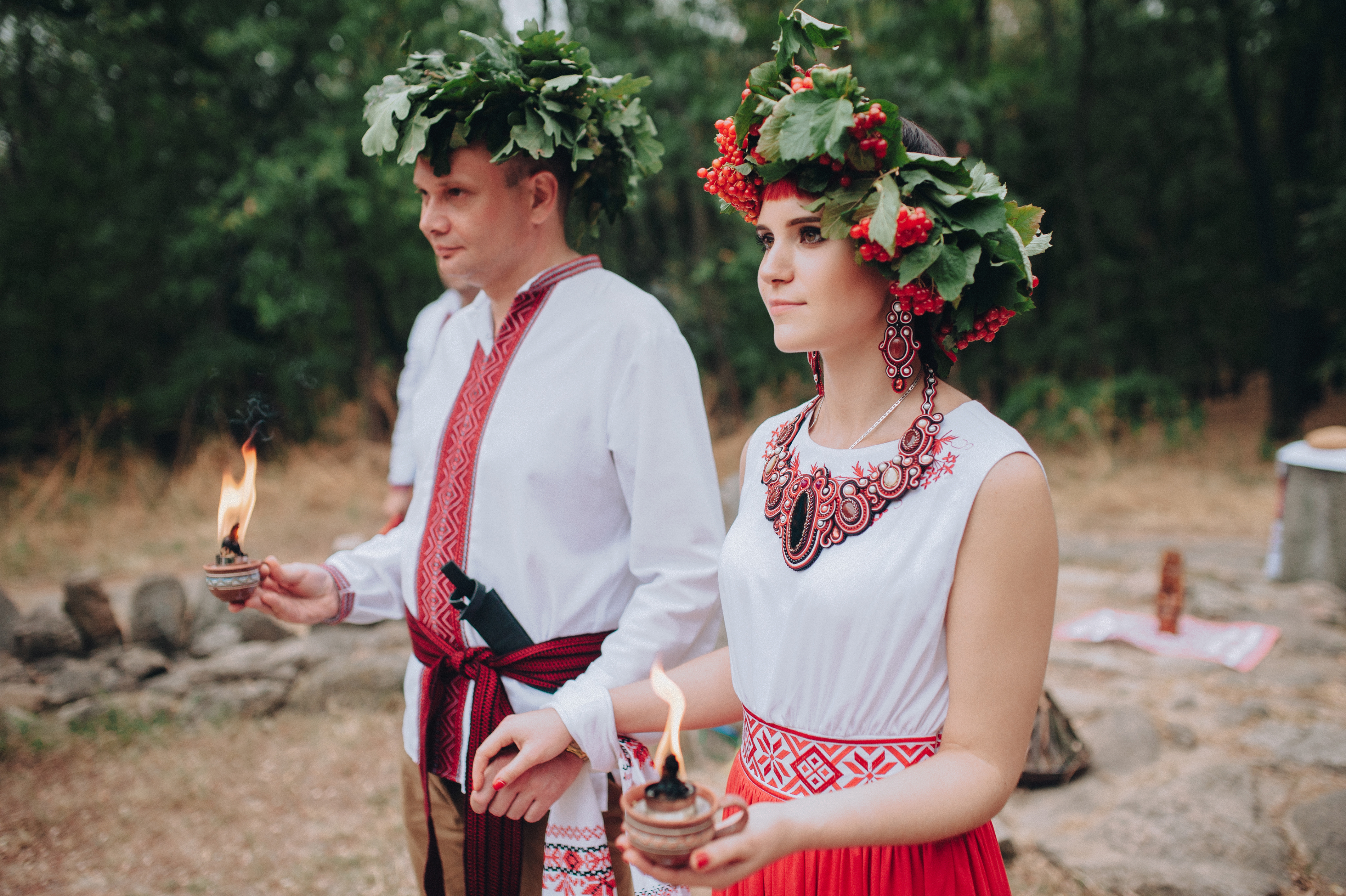 Ethnic,Wedding,In,National,Costumes.,Ukrainian,Marriage,Of,The,Old