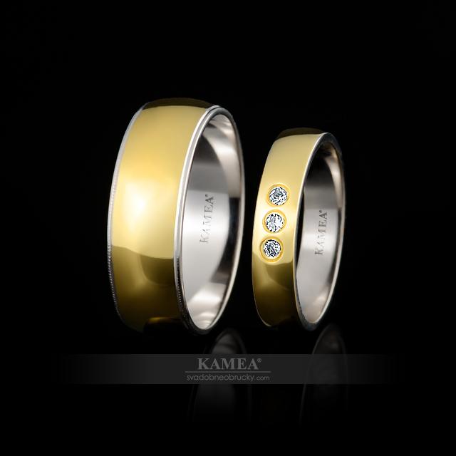 6064 svadobné obrúčky z bieleho a žltého zlata